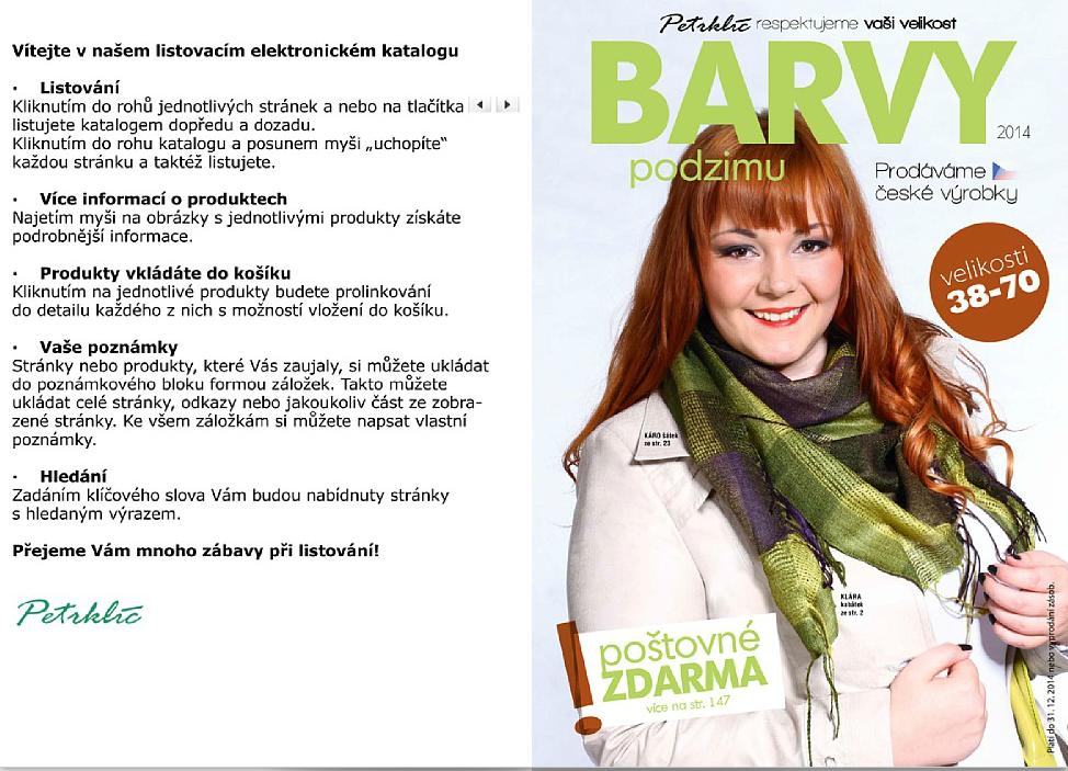 Katalog značky Petrklíč pro podzim 2014